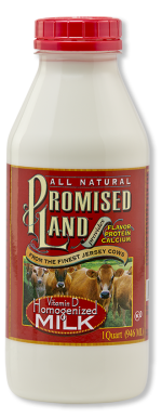 Homogenized whole white milk Promised Land Dairy quart