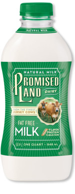 Fat Free White milk bottle image_Promised Land Dairy