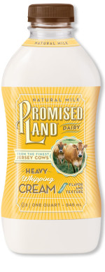 Heavy Whipping Cream bottle image_Promised Land Dairy