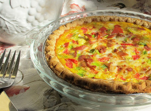 Bacon quiche recipe made with Promised Land Dairy milk