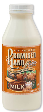 Bottle image of Salted Caramel Latte milk from Promised Land Dairy