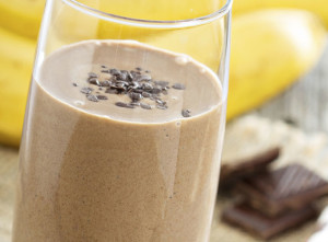 Chocolate Banana Blast Smoothie Recipe Stock Art Promised Land Dairy
