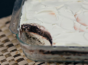 Chocolate Delight Trifle made with Promised Land Dairy milk