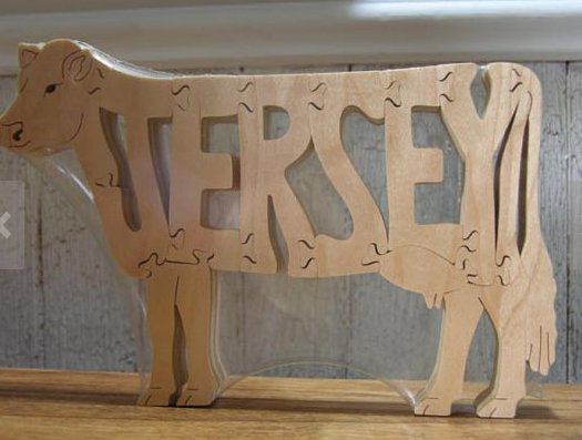 jersey cow wooden puzzle