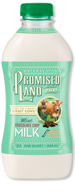 Mint Chocolate Chip milk LTO bottle image_Promised Land Dairy
