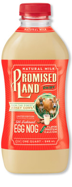 Old Fashioned Egg Nog bottle image_Promised Land Dairy