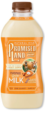 Pumpkin Spice milk bottle image_Promised Land Dairy