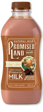Reduced Fat 2% Midnight Chocolate milk bottle image_Promised Land Dairy