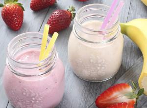 Banana Strawberry Smoothie Recipe Stock Art Promised Land Dairy